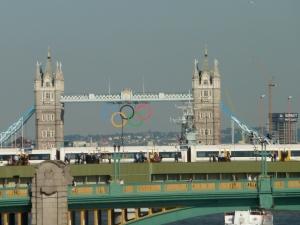 Olympic Rings at Tower Bridge