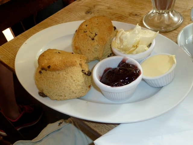 I did not make these scones, but I did enjoy eating them.